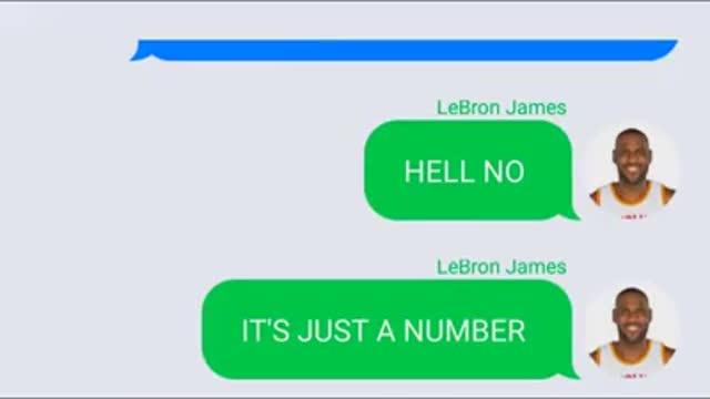 Jordan & LeBron Texting
