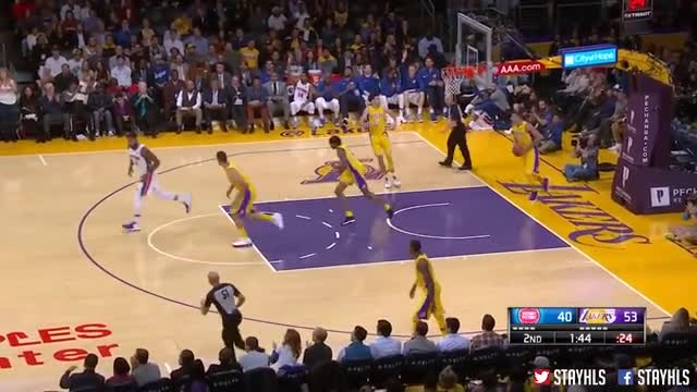 Los Angeles Lakers vs Detroit Pistons Full Game Highlights / Week 2 / 2017