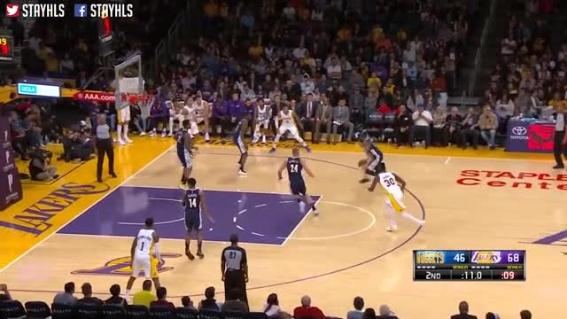 Los Angeles Lakers vs Denver Nuggets Full Game Highlights / Week 5 / 2017 NBA Season