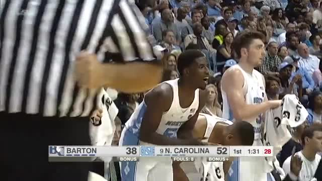 UNC Men's Basketball: Exhibition Highlights vs. Barton College