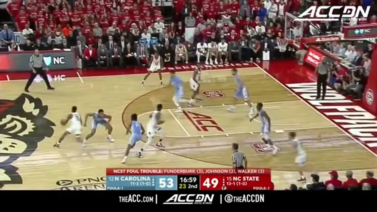 UNC vs NC State Basketball Highlights (2018-19)