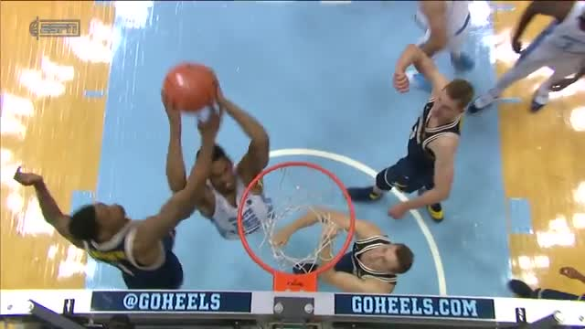 UNC Men's Basketball_ Carolina Runs Past Michigan, 86-71