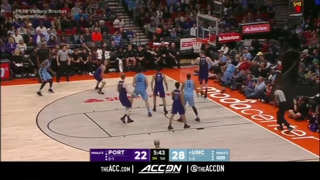 Portland vs. North Carolina Basketball Highlights (2017)