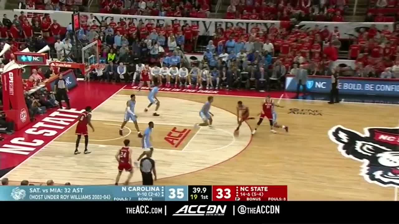 North Carolina vs NC State Basketball Game Highlights 1 27 2020