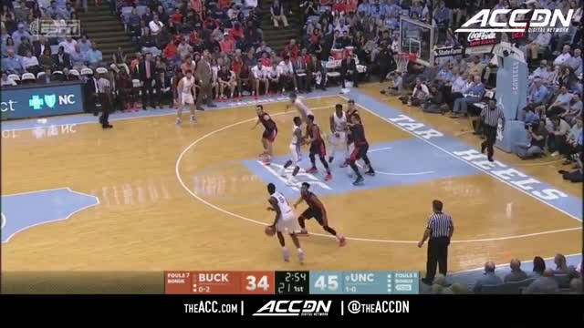 Bucknell vs North Carolina Basketball Highlights