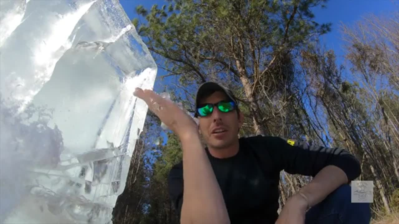 50 BMG VS 3600lbs of ICE BLOCKS 10FT LONG