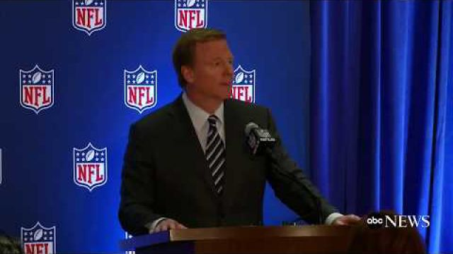 NFL commissioner Roger Goodell holds news conference following owners meetings