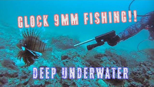 Glock-Fishing Underwater | 9mm Handgun Shooting Lionfish