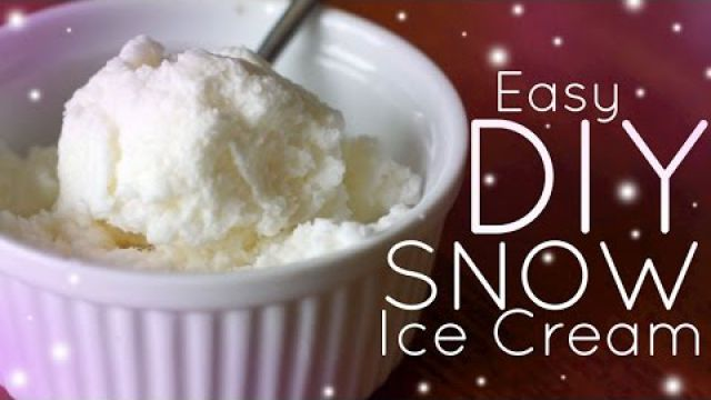 EASY Homemade Snow Ice Cream - NO MACHINE!