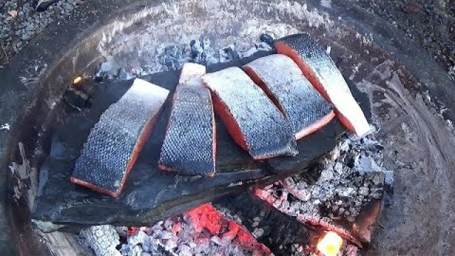 Stone Cooking: Salmon
