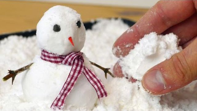 Wanna Build a Snowman? - How to Make Fake Snow